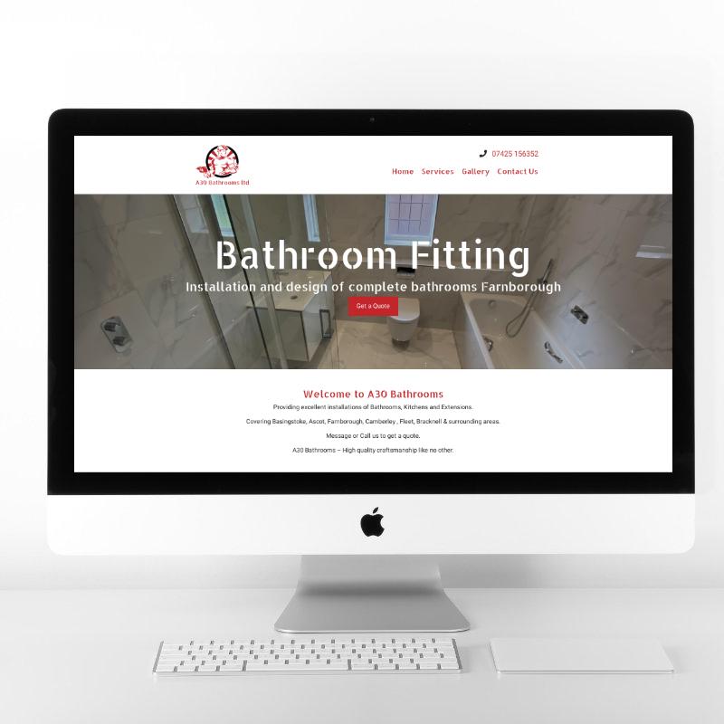 A30 Bathrooms   Web Design by Plexaweb