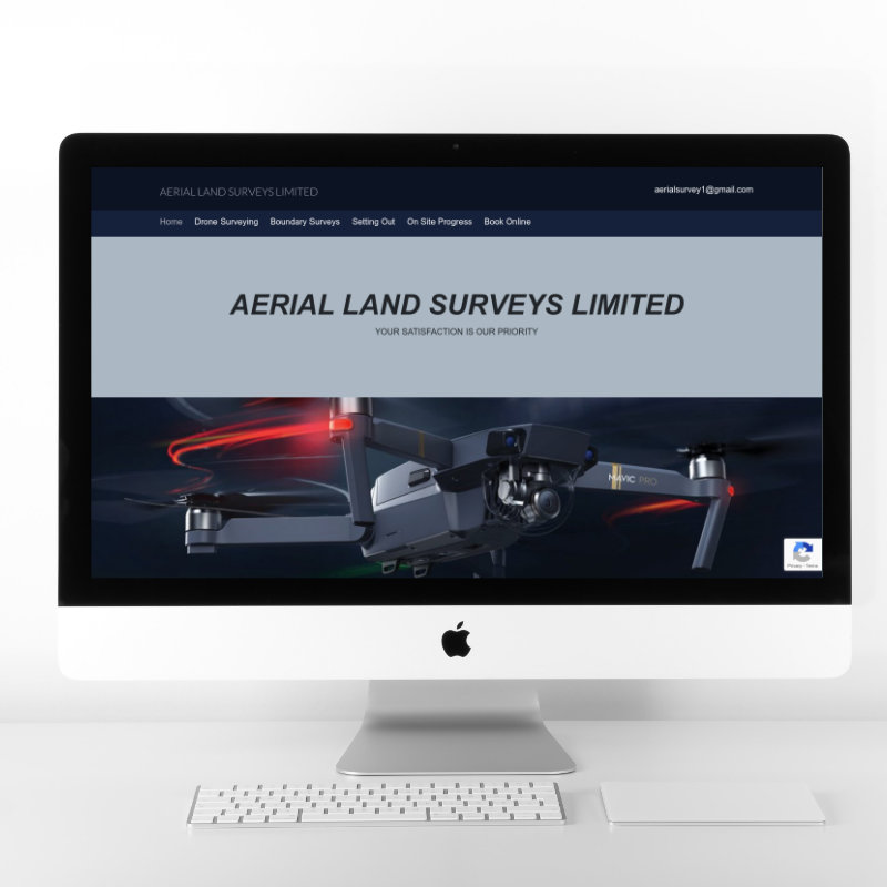 Aerial Land Surveys | Web Design by Plexaweb