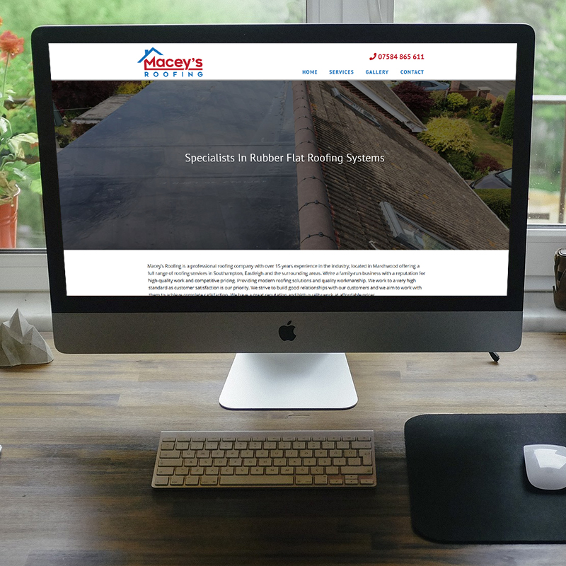 Maceys Roofing | Web Design by Plexaweb