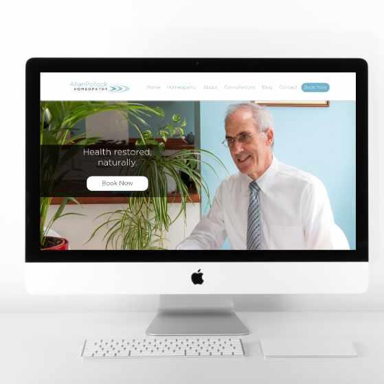 Allan Pollock | Website Design | Website Preview Image