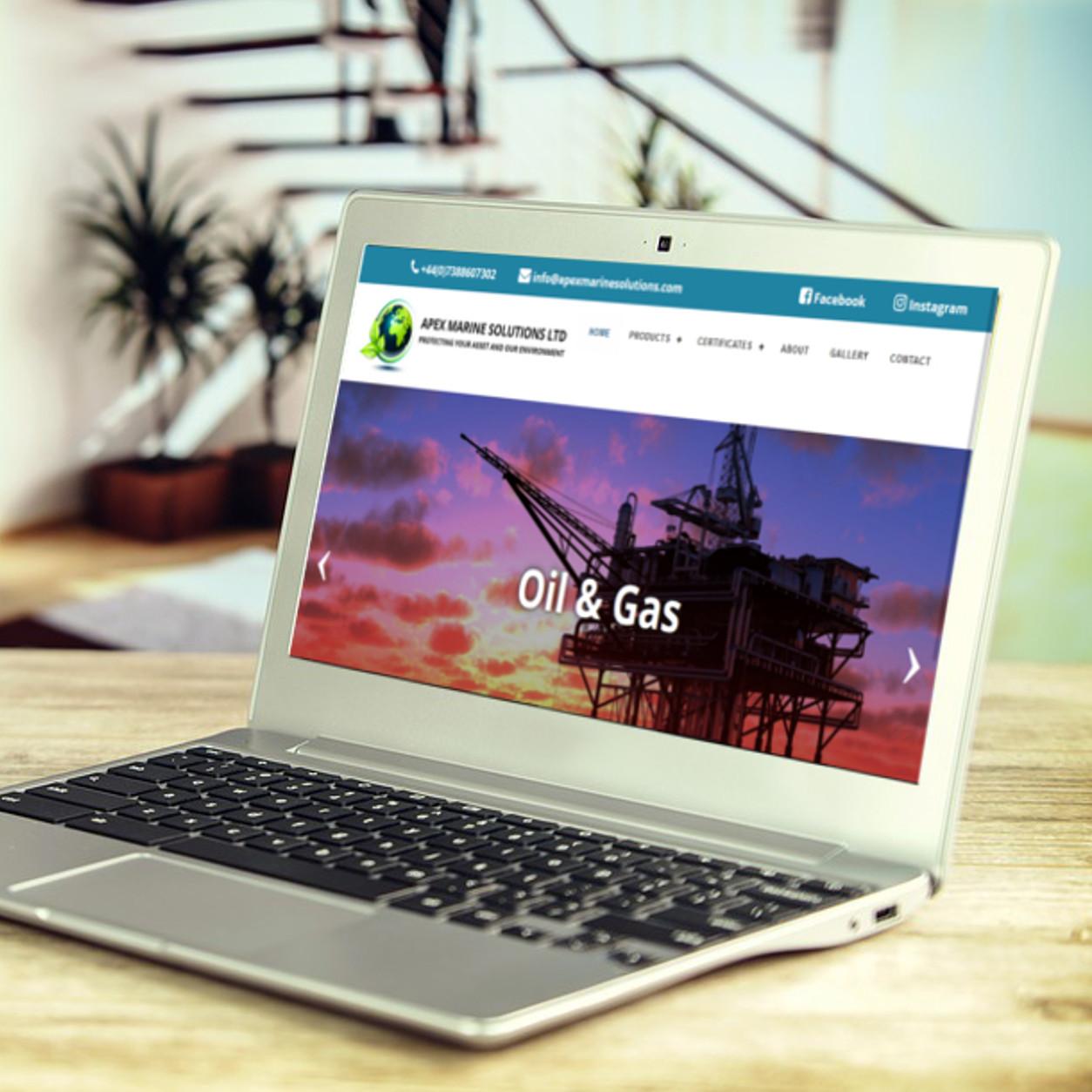 Apex Marine Solutions | Website Design | Website Preview Image