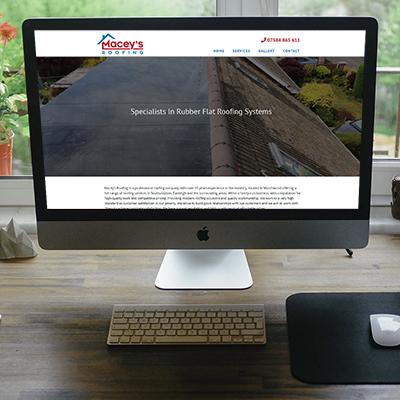 Maceys Roofing | Website Design | Website Preview Image