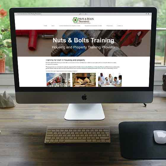 Nuts & Bolts Training | Website Design | Website Preview Image