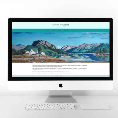 Steven Proudfoot | Website Design | Website Preview Image